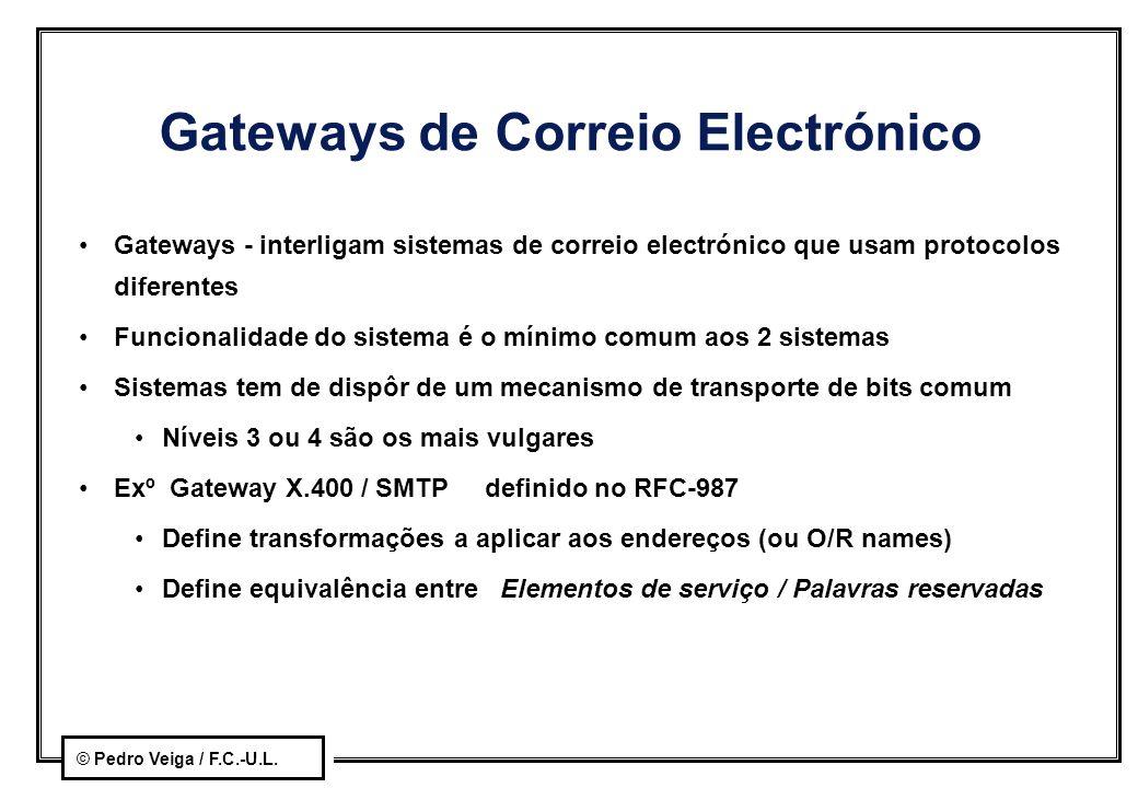 Gateways de Correio Electrónico