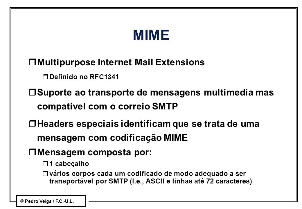 MIME Multipurpose Internet Mail Extensions