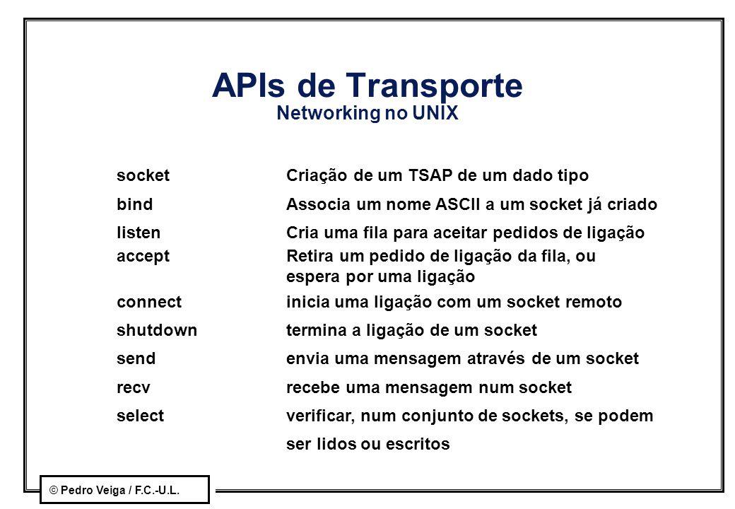 APIs de Transporte Networking no UNIX