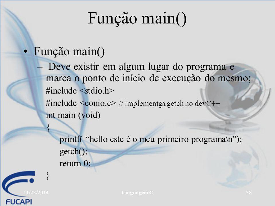 Função main() Função main()