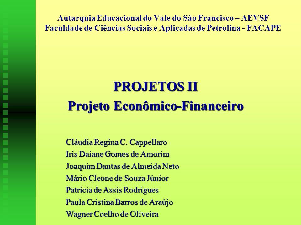 PROJETOS II Projeto Econômico-Financeiro