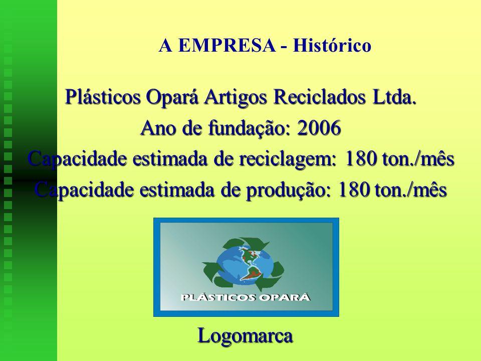 Plásticos Opará Artigos Reciclados Ltda. Ano de fundação: 2006
