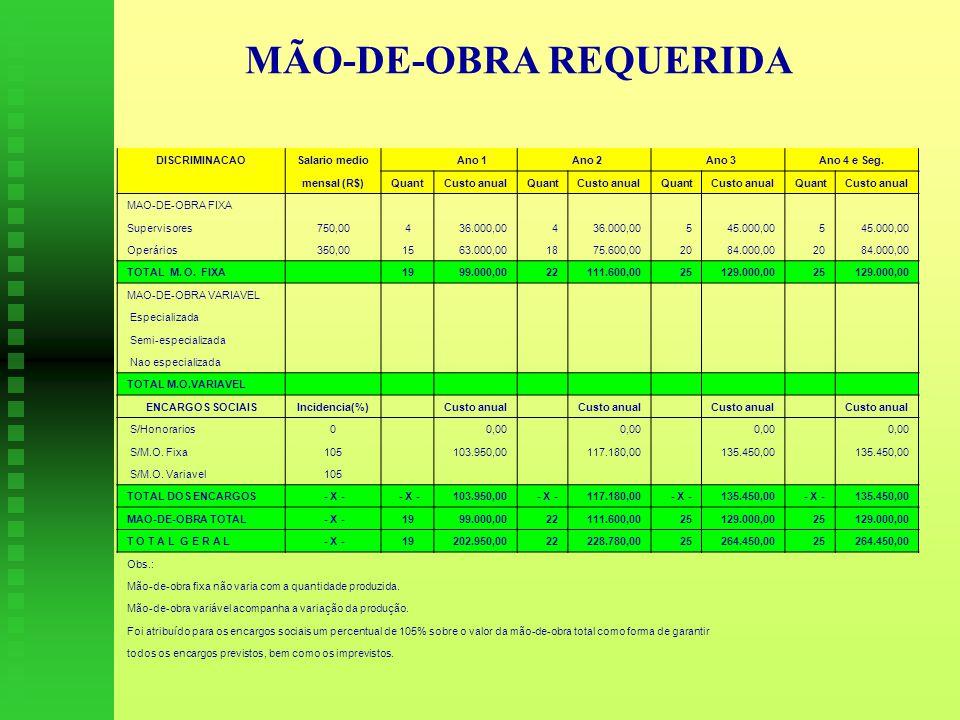 MÃO-DE-OBRA REQUERIDA