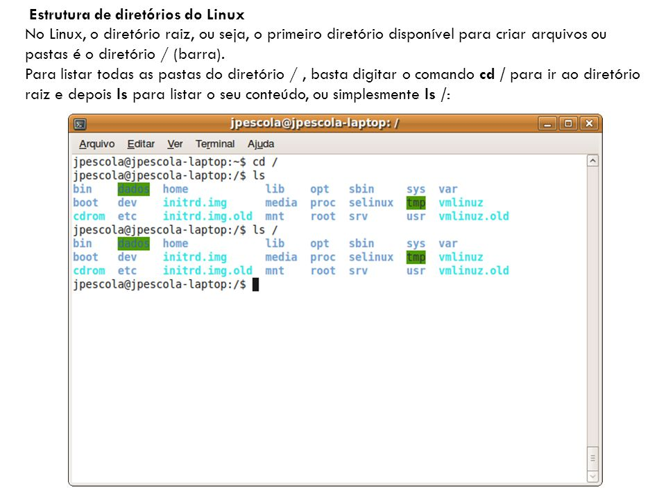 Estrutura de diretórios do Linux