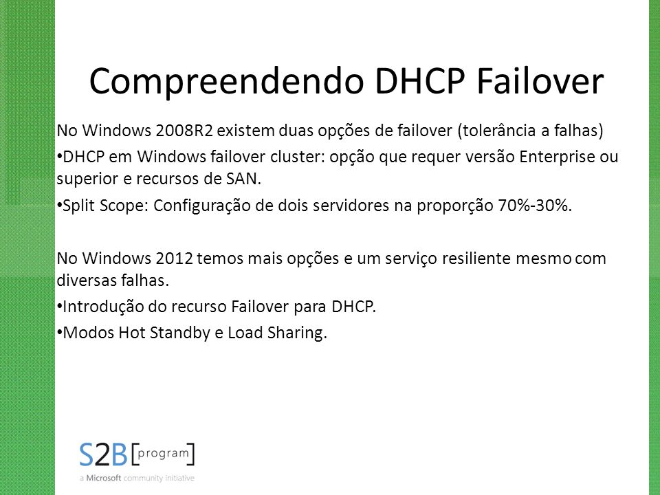 Compreendendo DHCP Failover