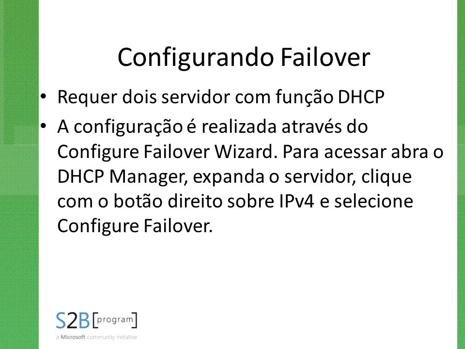 Configurando Failover