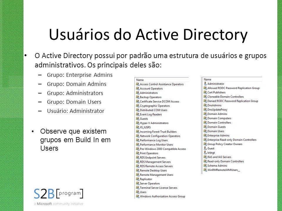 Usuários do Active Directory