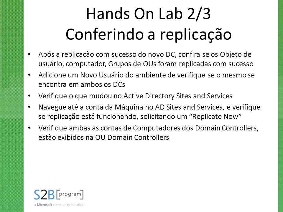 Hands On Lab 2/3 Conferindo a replicação