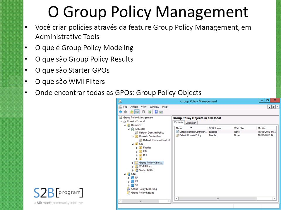 O Group Policy Management