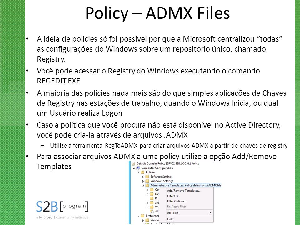Policy – ADMX Files