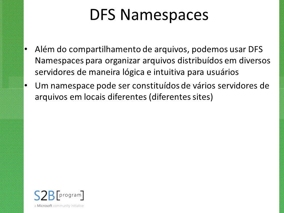 DFS Namespaces