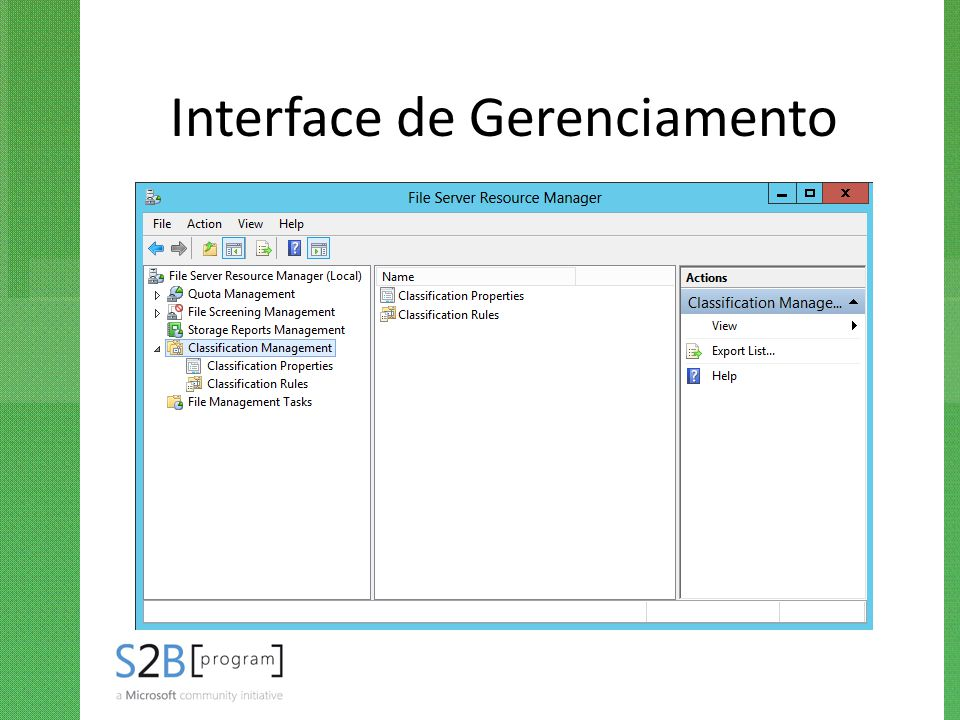 Interface de Gerenciamento