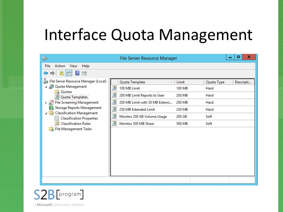 Interface Quota Management