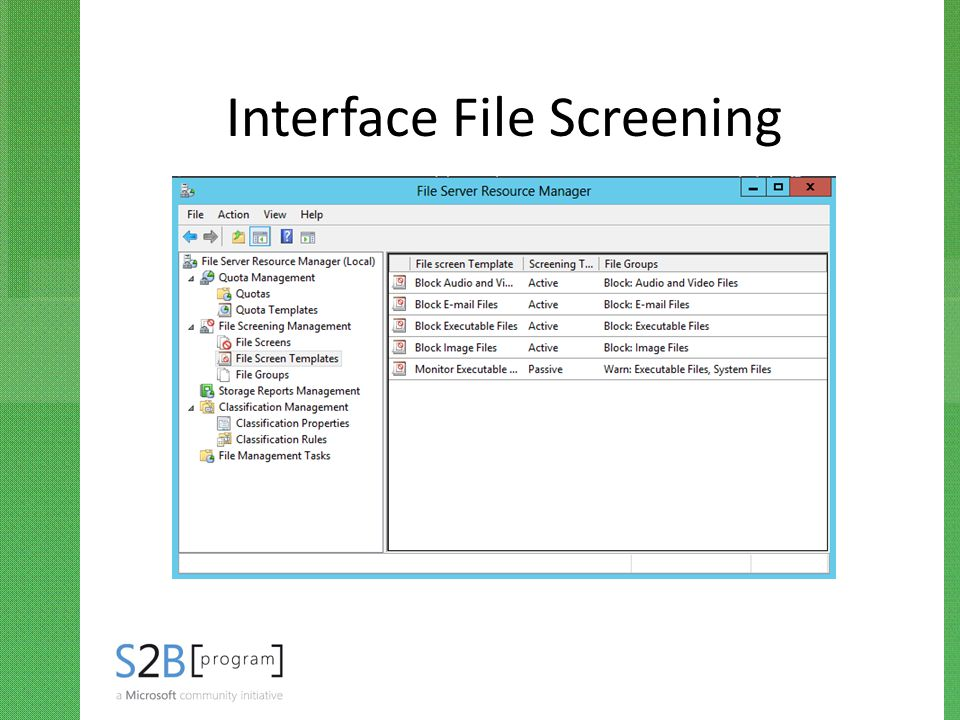 Interface File Screening