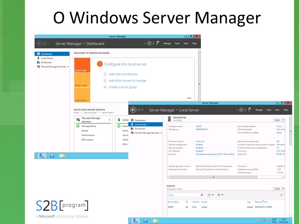 O Windows Server Manager