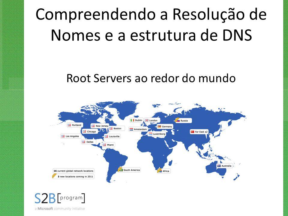 Compreendendo a Resolução de Nomes e a estrutura de DNS