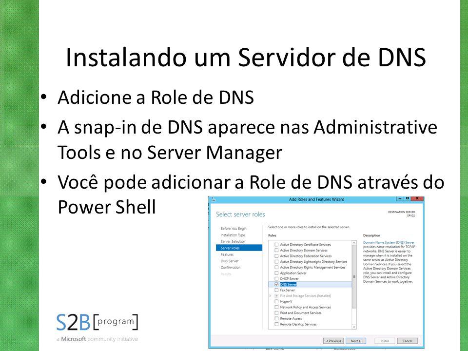 Instalando um Servidor de DNS