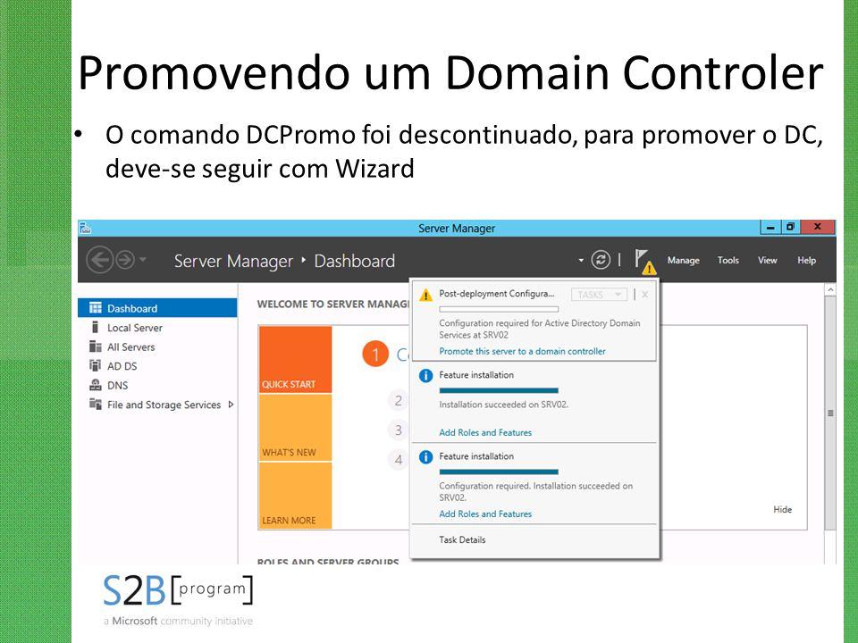 Promovendo um Domain Controler