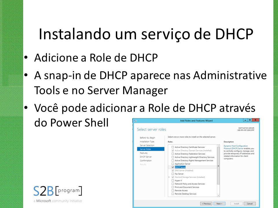 Instalando um serviço de DHCP