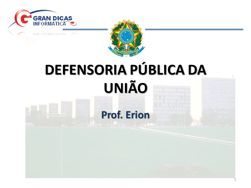 DEFENSORIA PÚBLICA DA UNIÃO