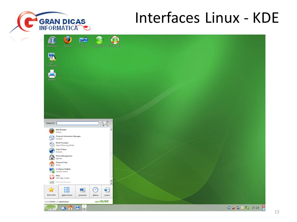 Interfaces Linux - KDE