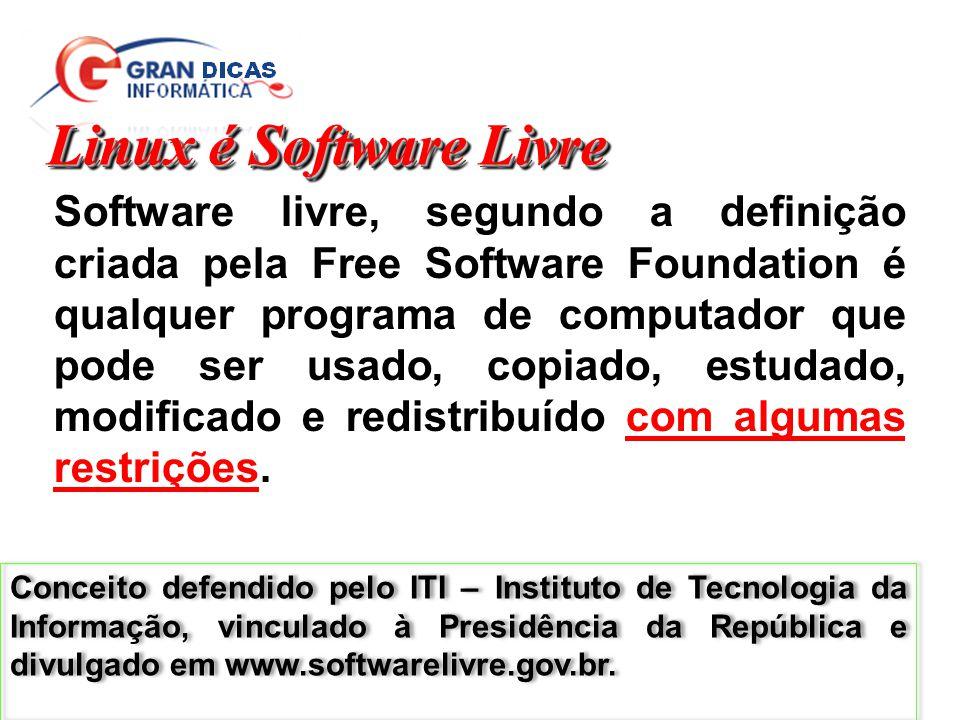 Linux é Software Livre