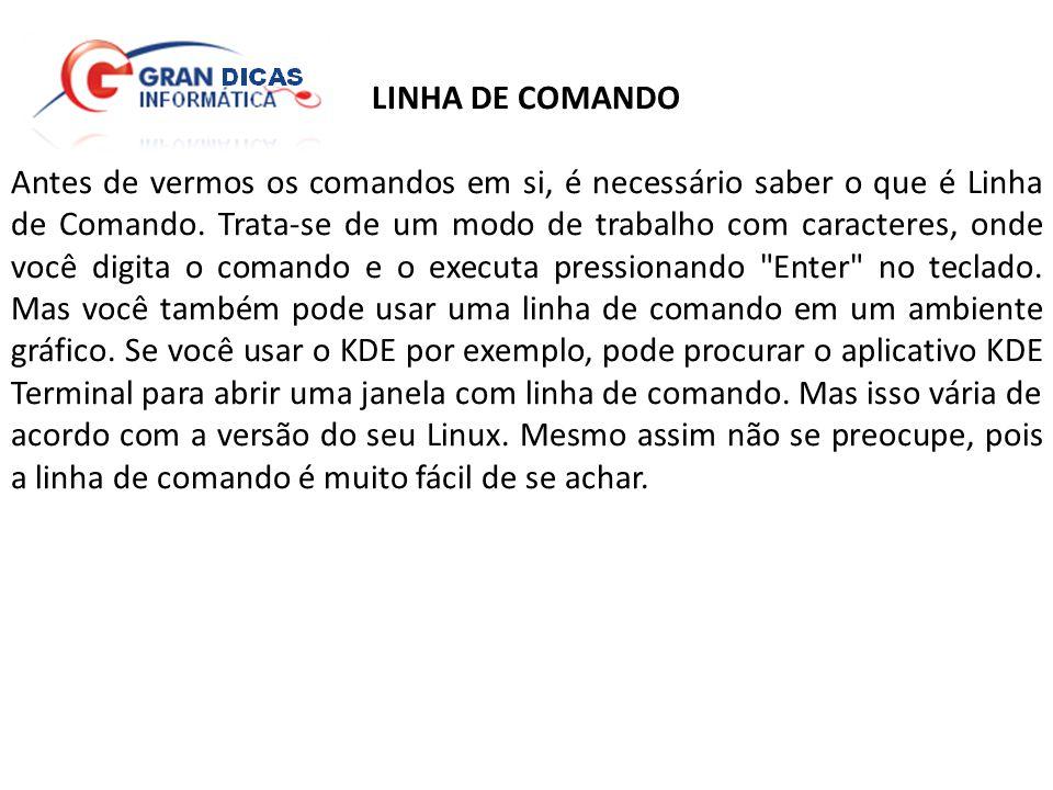 LINHA DE COMANDO