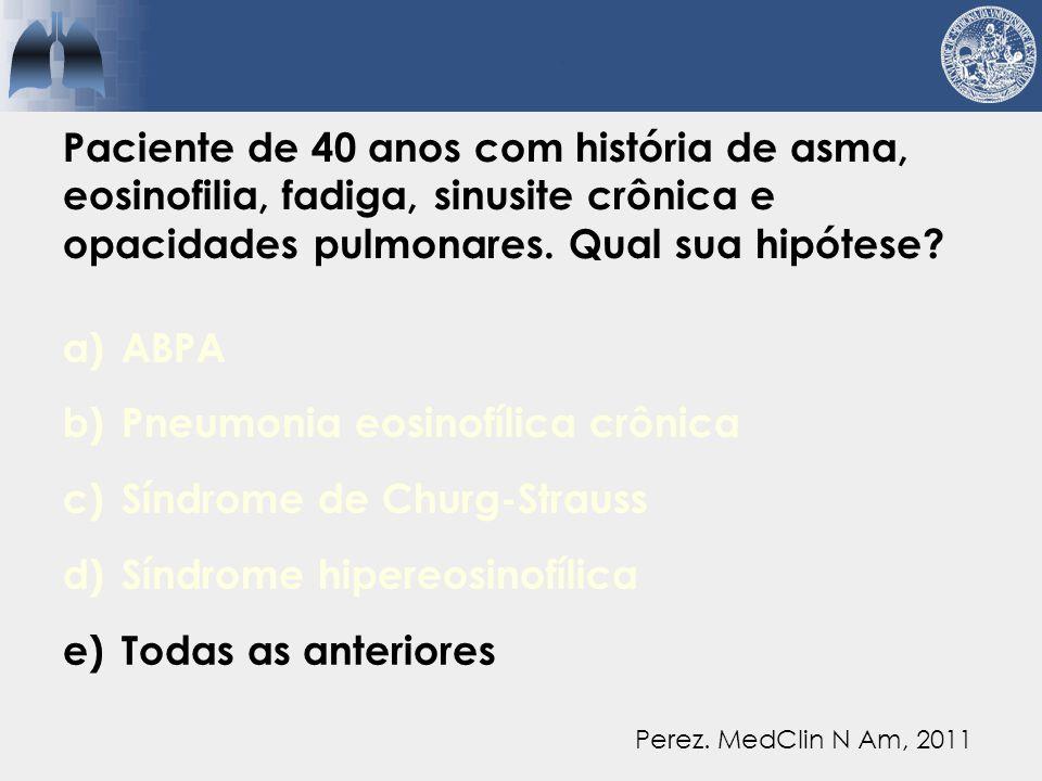 Pneumonia eosinofílica crônica Síndrome de Churg-Strauss
