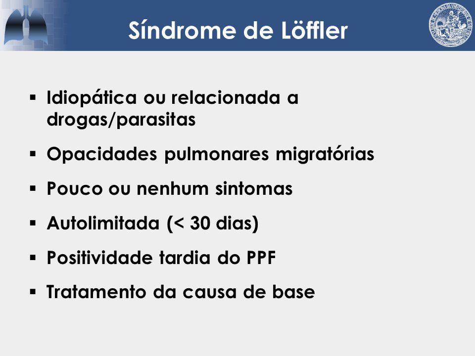 Síndrome de Löffler Idiopática ou relacionada a drogas/parasitas