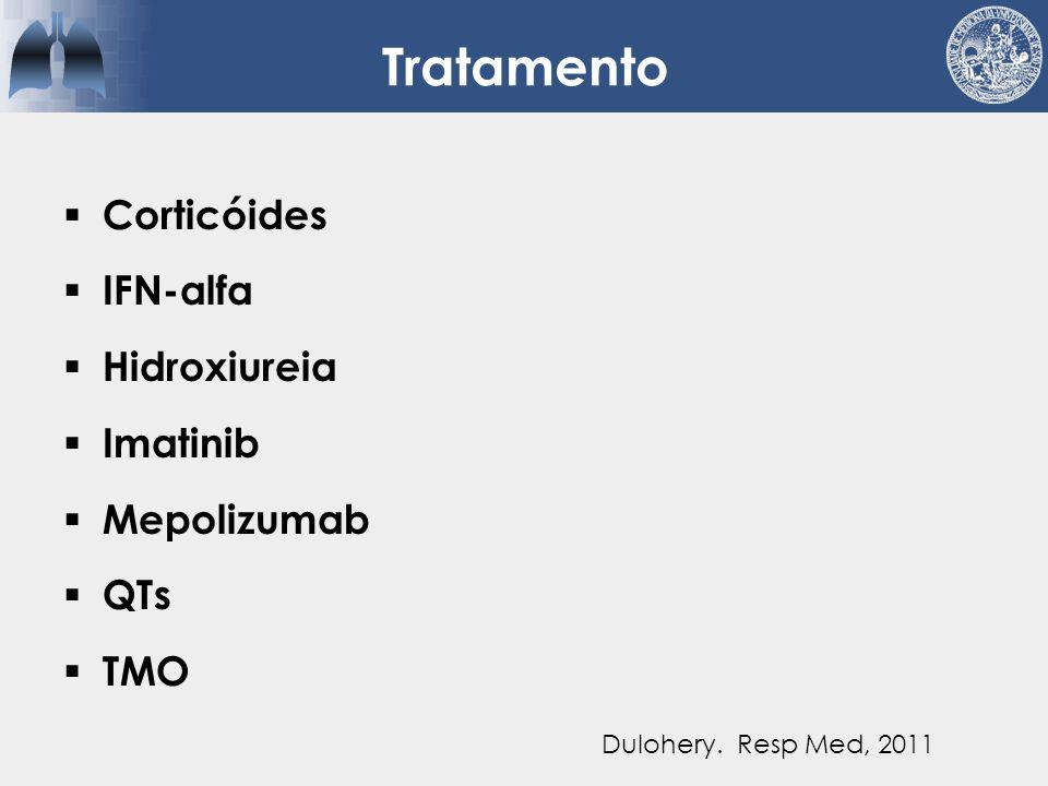 Tratamento Corticóides IFN-alfa Hidroxiureia Imatinib Mepolizumab QTs