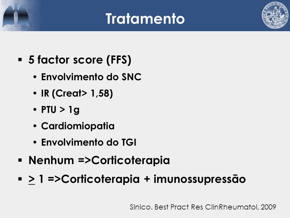 Tratamento 5 factor score (FFS) Nenhum =>Corticoterapia