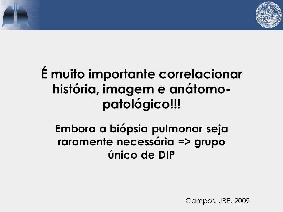 É muito importante correlacionar história, imagem e anátomo-patológico!!!