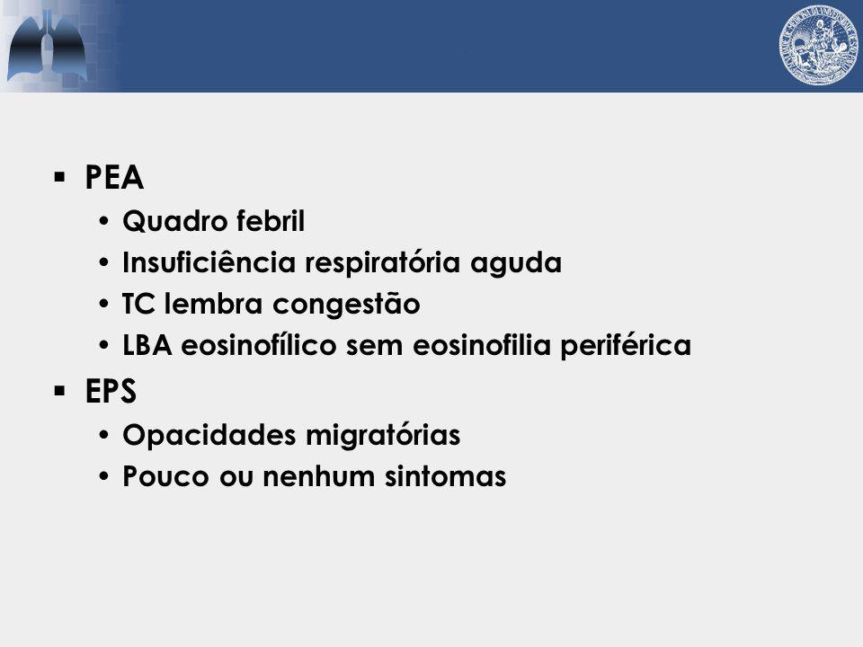 PEA EPS Quadro febril Insuficiência respiratória aguda