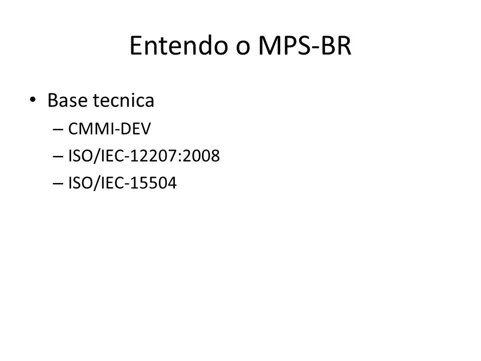Entendo o MPS-BR Base tecnica CMMI-DEV ISO/IEC-12207:2008