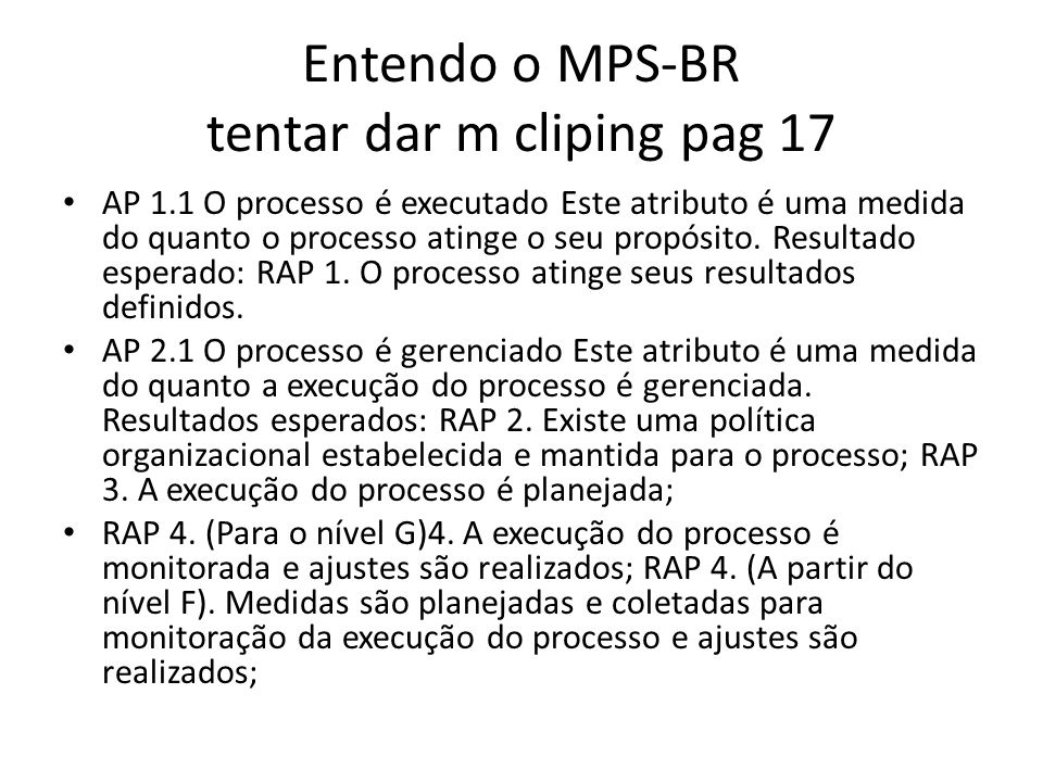 Entendo o MPS-BR tentar dar m cliping pag 17