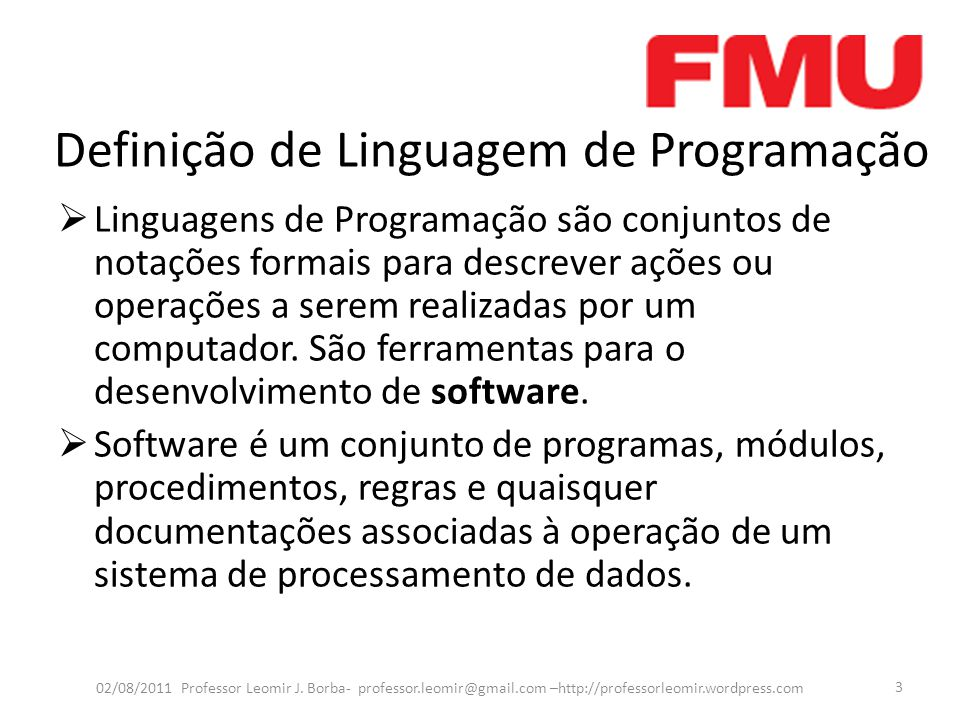 Definição de Linguagem de Programação
