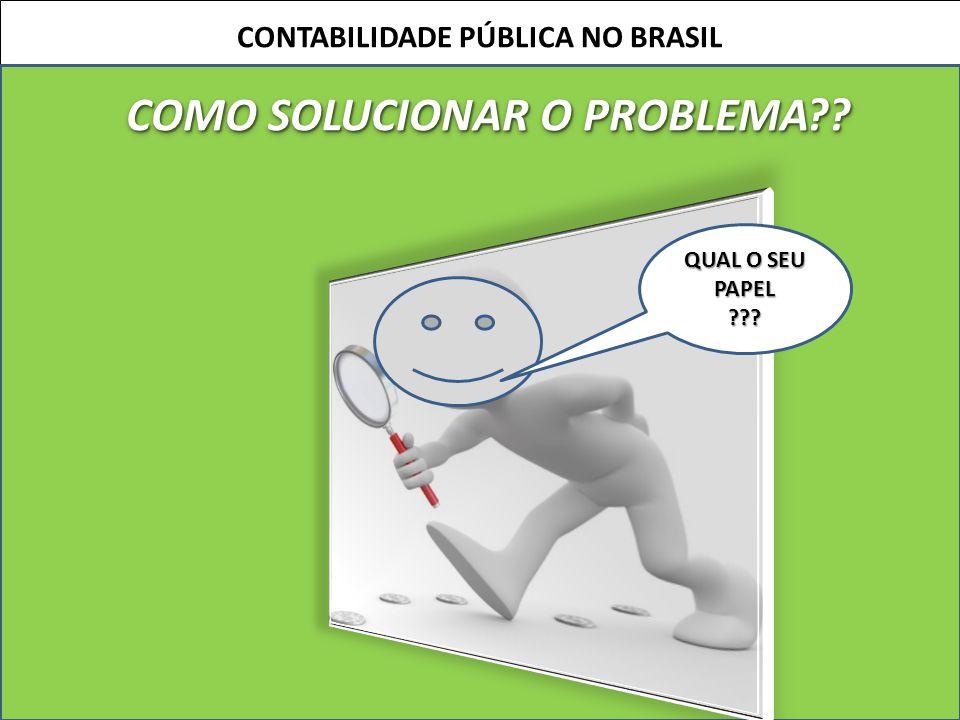 CONTABILIDADE PÚBLICA NO BRASIL COMO SOLUCIONAR O PROBLEMA