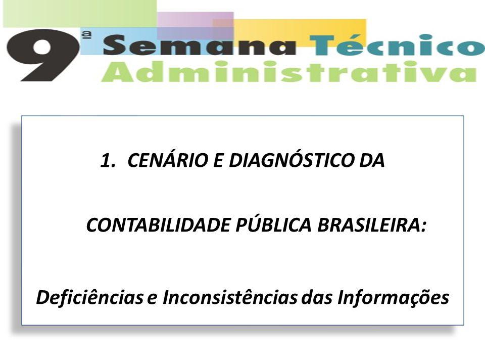 CENÁRIO E DIAGNÓSTICO DA CONTABILIDADE PÚBLICA BRASILEIRA: