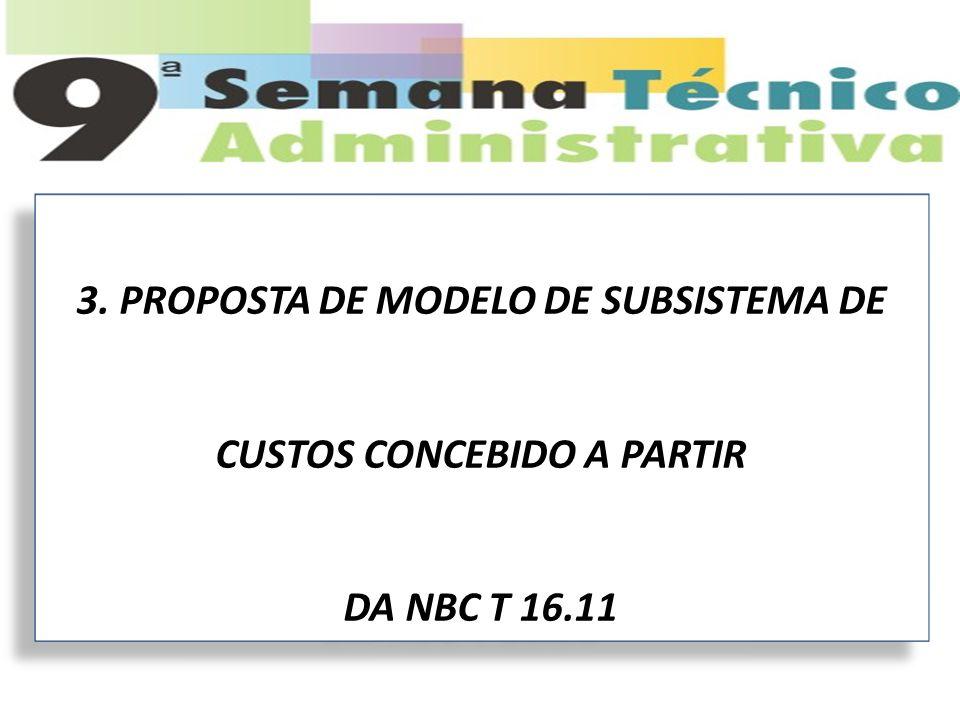 3. PROPOSTA DE MODELO DE SUBSISTEMA DE CUSTOS CONCEBIDO A PARTIR