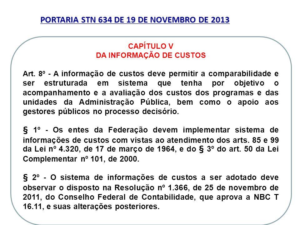 PORTARIA STN 634 DE 19 DE NOVEMBRO DE 2013