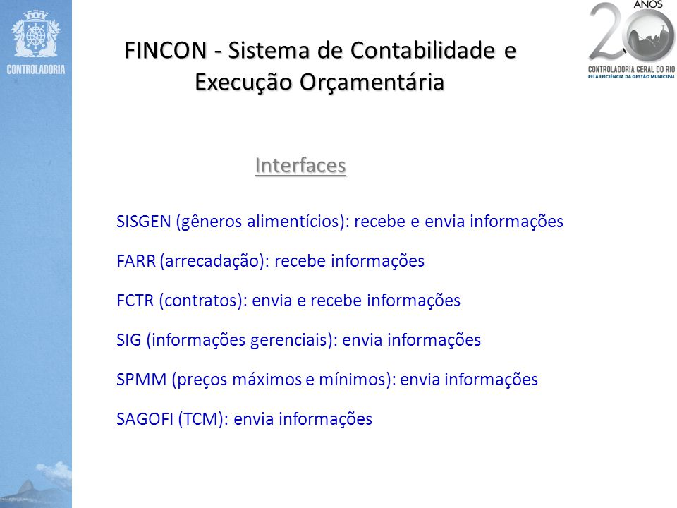 FINCON - Sistema de Contabilidade e Execução Orçamentária