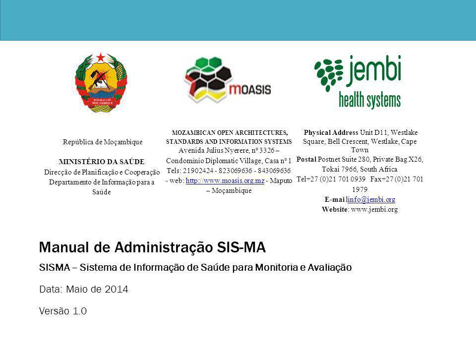 Manual de Administração SIS-MA