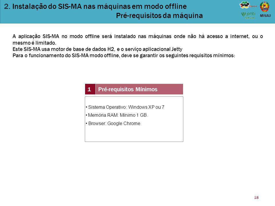 2. Instalação do SIS-MA nas máquinas em modo offline
