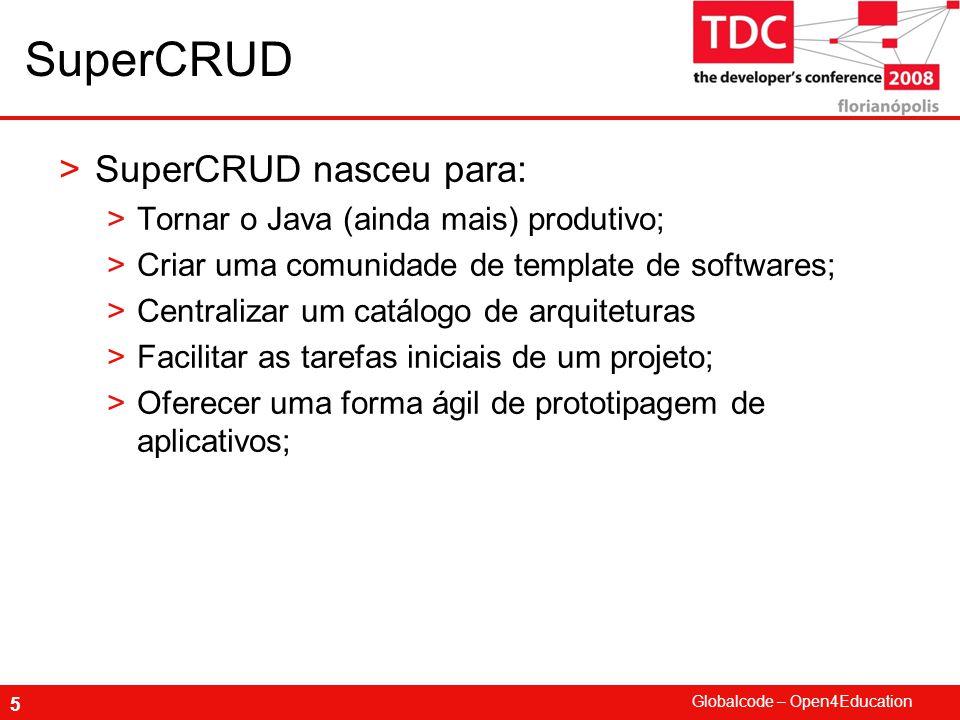 SuperCRUD SuperCRUD nasceu para: Tornar o Java (ainda mais) produtivo;