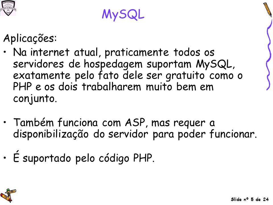 MySQL Aplicações: