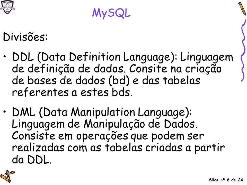 MySQL Divisões: