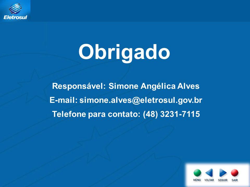 Obrigado Responsável: Simone Angélica Alves