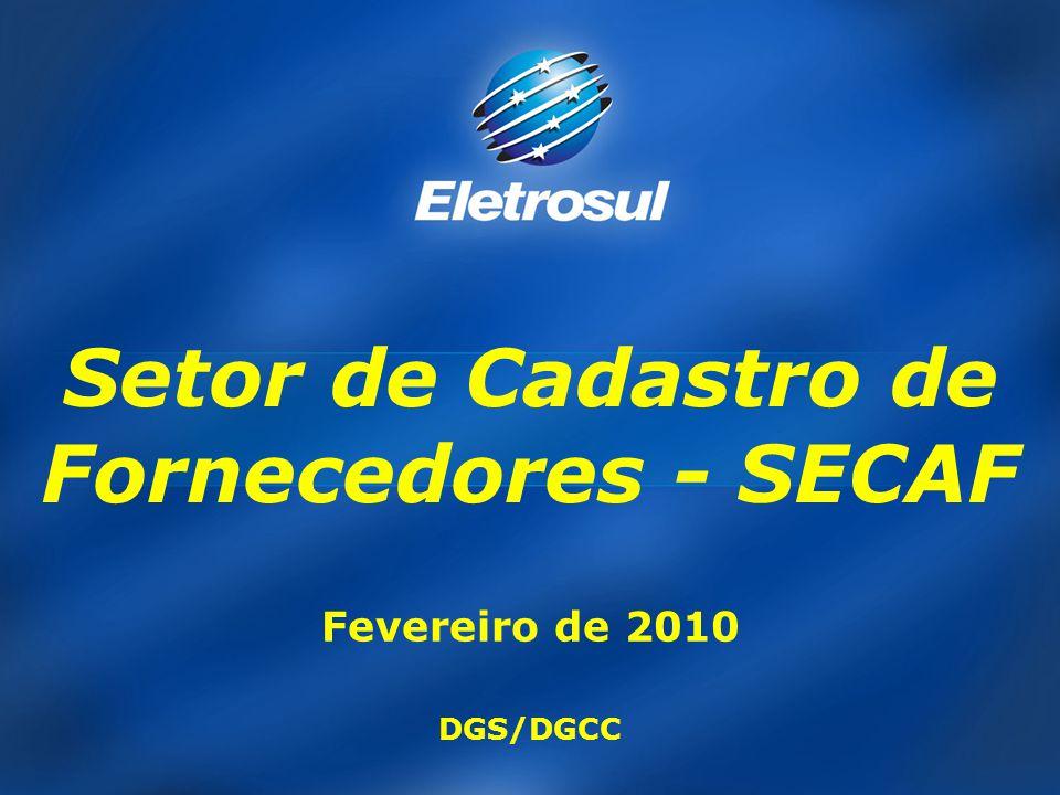 Setor de Cadastro de Fornecedores - SECAF