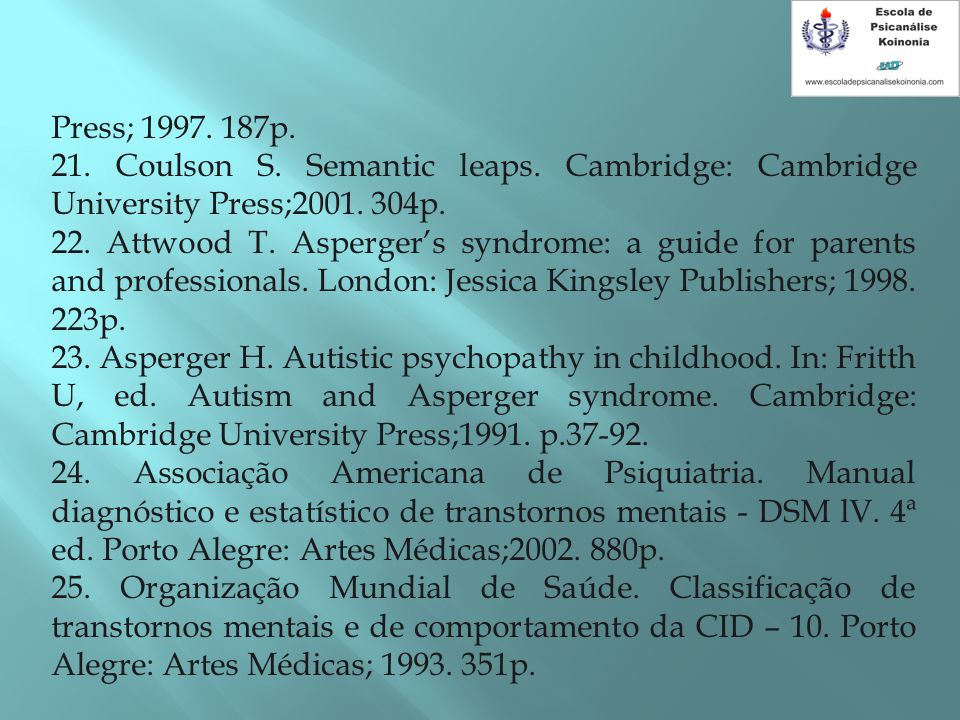 Press; 1997. 187p. 21. Coulson S. Semantic leaps. Cambridge: Cambridge University Press;2001. 304p.