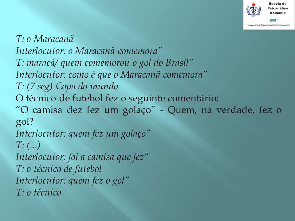 T: o Maracanã Interlocutor: o Maracanã comemora T: maracá/ quem comemorou o gol do Brasil Interlocutor: como é que o Maracanã comemora
